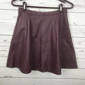 LC Lauren Conrad Purple Pleather Skirt - W2